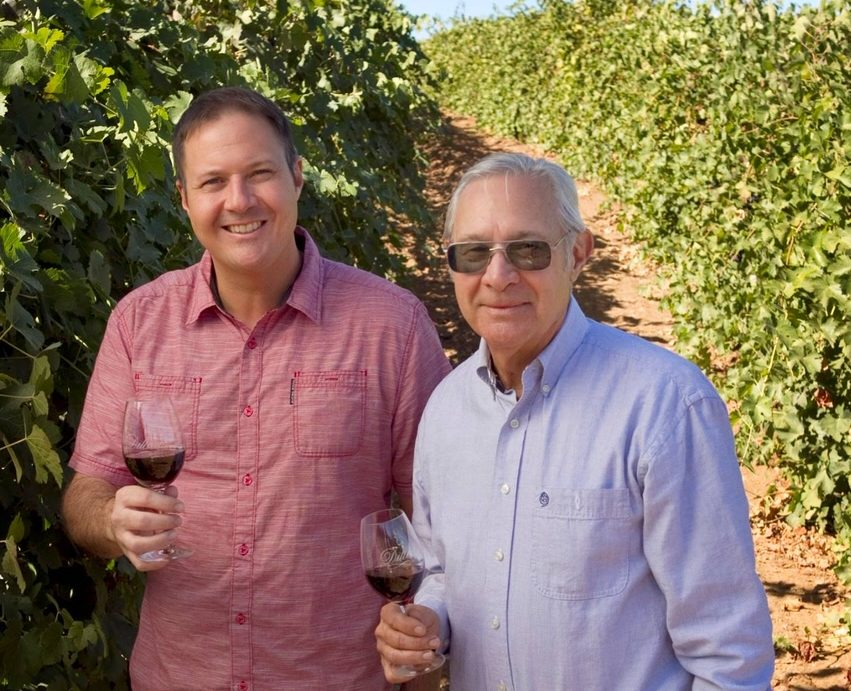 Thomas and Tom Dillian at Dillian Vineyards